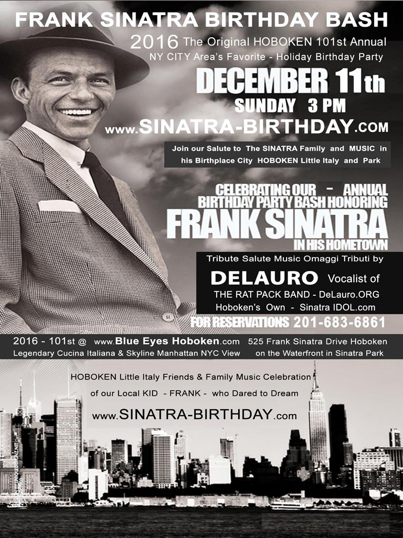 Frank Sinatra Birthday Bash Sinatra Birthday Bash Party Ny New